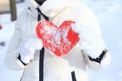 Rotes Herz ist perfekter Hintergrund für Valentinsgrußtag Stockfotografie
