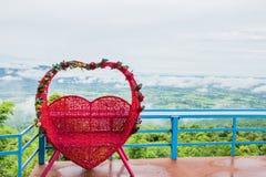 Rotes Herz-Liebes-Symbol stockbild