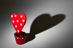 Rotes Herz mit Herzschatten Lizenzfreies Stockbild