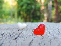 Rotes Herz, Valentinsgrußhintergrund Lizenzfreies Stockbild