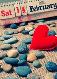 Rotes Herz, Valentinstag Lizenzfreie Stockfotos
