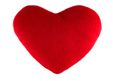 Rotes Herzgeschenk lokalisiert auf Weiß Lizenzfreie Stockbilder