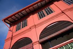 rotes holländisches Haus des 18. Jahrhunderts Lizenzfreies Stockbild