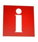 Rotes Informationszeichen Lizenzfreie Stockbilder