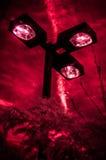 Rotes Infrarotfoto von Straßenlaterne Lizenzfreie Stockfotos