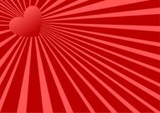 Rotes Inneres Stockfoto