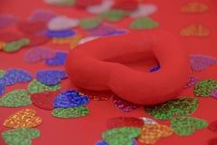 Rotes Inneres auf einem roten Hintergrund Lizenzfreie Stockfotografie