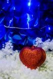 Rotes Inneres im Schnee Lizenzfreie Stockbilder