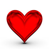 Rotes Inneres! klassisches Liebessymbol Stockbild