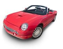 Rotes Kabriolett mit Beschneidungspfad Lizenzfreies Stockbild