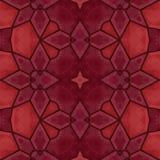 Rotes Kaleidoskopmuster - Hintergrundbeschaffenheit Stockbilder