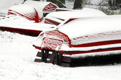Rotes Kanu Stockfoto