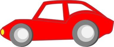 Rotes Karikatur-Auto Stockfotografie