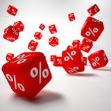 Rotes Kasten procentage Stockfoto