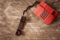 Rotes klassisches Telefon Lizenzfreies Stockfoto