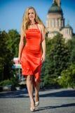 Rotes Kleid lizenzfreie stockbilder
