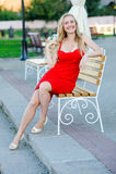 Rotes Kleid lizenzfreie stockfotografie