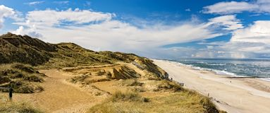 Rotes Kliff - Kampen, Sylt. Rotes Kliff near Kampen on the island Sylt Stock Photography
