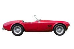 Rotes konvertierbares Sportauto lokalisiert Lizenzfreies Stockfoto