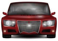 Rotes Konzept-Auto Kein eingetragenes Warenzeichen Auf weißem Hintergrund Stockfotografie