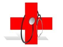 Rotes Kreuz lizenzfreie abbildung