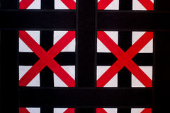 Rotes Kreuz, moderne Artdekoration Lizenzfreie Stockfotos