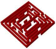 Rotes Labyrinth Stockfotografie