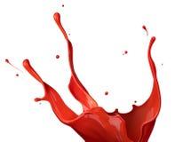 Rotes Lackspritzen Stockfoto