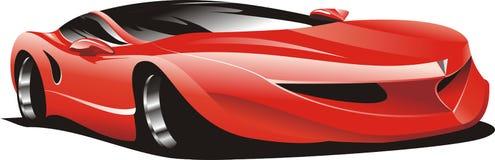 Rotes laufendes Auto Lizenzfreie Stockbilder
