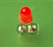 Rotes LED-Schauzeichen stockfoto