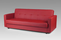 Rotes ledernes Sofa Stockfotos