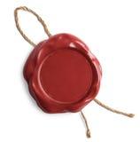 Rotes leeres Wachssiegel oder Stempel Lizenzfreies Stockfoto