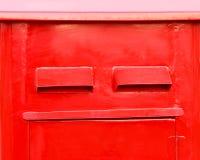 Rotes letterbox Stockbild