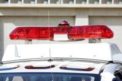 Rotes Licht der Polizei Stockfotografie