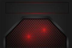 Rotes Licht im Maschenschatten dunkelgrau als Hintergrund lizenzfreie abbildung