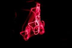 Rotes Licht-Malerei Stockfotos