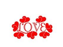 Rotes Liebe letetrs Herz lokalisiert auf dem weißen Hintergrund Romanze lizenzfreie abbildung