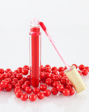 Rotes Lipgloss Stockfotos