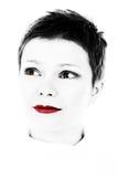 Rotes Lippenstiftportrait Lizenzfreies Stockfoto