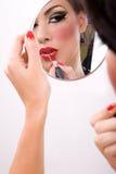 Rotes lipstic Stockfotografie