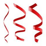 Rotes lockiges Farbband lizenzfreie abbildung