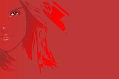 Rotes Mädchen Lizenzfreie Stockfotos