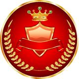 Rotes medallion1 Stockfoto