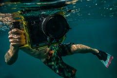 Rotes Meer, Fisch, Zebrafische, Pterois volitans Stockfoto