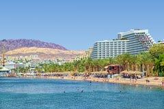 Rotes Meer und Landschaft von Elat Lizenzfreie Stockfotos