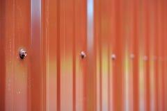 Rotes Metallgebäude-Abstellgleis Lizenzfreie Stockfotos