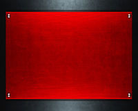 Rotes Metallplatten Stockbilder