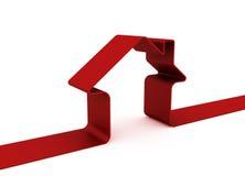 Rotes Metapherhaus Lizenzfreies Stockfoto
