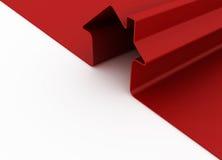 Rotes Metapherhaus Stockfotografie