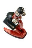Rotes Mikroskop Lizenzfreies Stockfoto
